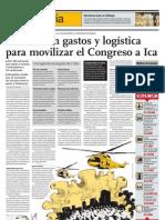 Cuestionan gastos y logística para movilizar el Congreso a  Ica