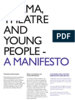 Drama Theatre and Young People Manifesto