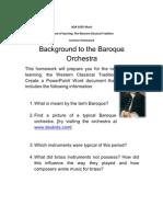 Baroque Gcse Homework