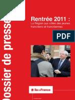 Dossier de presse sur la rentrée 2011 - Conseil régional d'Île-de-France