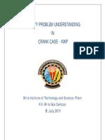 Quality Problem Understanding in Crank Case-KWP