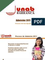 Pasos para la Inscripcion al Proceso de Inscripción de la UNAB
