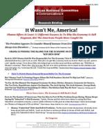 Obama's Eleven Excuses