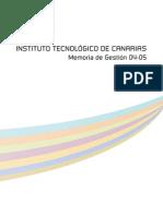 Memoria Instituto Tecnológico de Canarias (2004-2005)