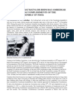 Speech of Bharat Ratna Dr Bhim Rao Ambedkar Detailing the Accomplishments of the Constiuent Assembly of India