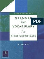 Grammar for FCE