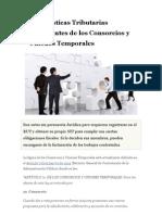Consorcios y Uniones Temp or Ales