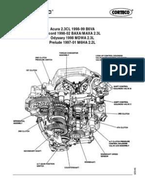 Accord 1998 Auto Tranny Diagram | Transmission (Mechanics) | MachinesScribd