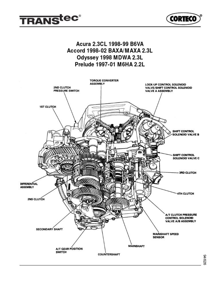 Accord 1998 Auto Tranny Diagram