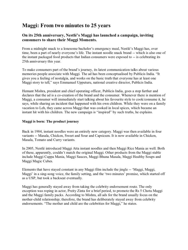Maggi Advertisement Campaign
