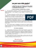 COMUNICADO FRENTE AMPLIO