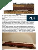 Modélisme ferroviaire à l'échelle HO. Actualiser le wagon plat à bogies JOUEF par Hervé Leclère.