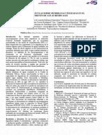 FORMACIÓN DE BIOPELÍCULAS SOBRE MEMBRANAS UTILIZADAS EN EL TRATAMIENTO DE AGUAS RESIDUALES