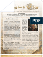 Fall 2011 'Notes from the Choir' - Newsletter for the Patrons of Sacred Music