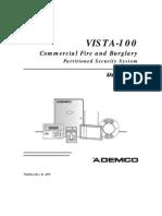 Ademco Vista 100 User Guide