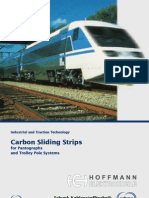 16 10 en Carbon Sliding Strip Span to Graphs Trolley Pole Systems