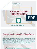 LA EVALUACIÓN DIAGNOSTICA