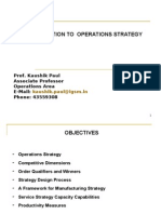 Operations Strategy and Competitiveness