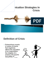 Communication Strategies in Crisis