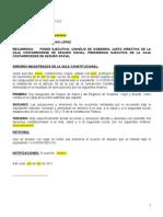 Coadyuvancia Recurso de Amparo Incumplimiento de Leyes Exp 11-010539-0007-CO