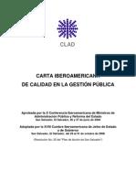 Carta Iberoamericana de Calidad en La Gestion Publica