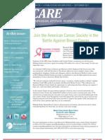 CARE Newsletter - September 2011