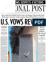 The Post's A section, September 12, 2001