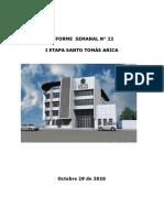 arica informe semanal Nº 22 al 29-oct-2010