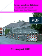 Kleckern und Klotzen, 08.2011