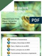 Exposición Bases de Datos Distribuidas