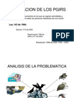 LEGISLACION DEL PLAN DE GESTIÓN INTEGRAL DE RESIDUOS SOLIDOS