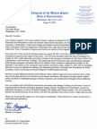 2011-08-31 Letter to POTUS Disaster Declaration