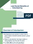 Benefits of Volunteering 2008