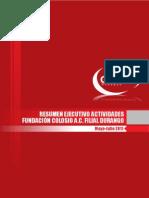 Informe de actividades Fundacion Colosio Mayo Julio 2011