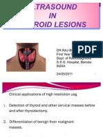 Dr Raj Bumiya Thyroid Lesion ( NODULAR OR DIFFUSE ) Usg - Ultrasonography