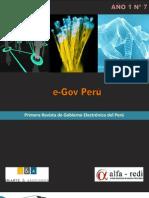 Revista eGOV Perú Nº7- Año I