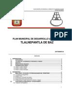 Plan Municipal de Desarrollo Urbano Septiembre