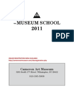 MUSEUM SCHOOL Course Descriptions 2011