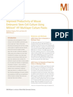Improved Productivity of Mouse Embryonic Stem Cell Culture Using Millicell® HY Multilayer Culture Flasks