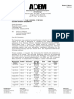 ADEM notice of violations to Gunters Landing Lagoon