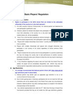 WCG Baisc Players Regulation Ver 1.0