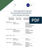 ICAR First Annual Meeting - Agenda
