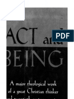 bonhoeffer Akt Und Sein, 1956 - Act and Being, English Translation, 1961