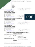 LIBERI, et al. v BELCHER, et al.(N.D. TX)  - 188.2 - Memorandum of Law (Brief) in support of Plaintiffs Opposition to Defendant Edgar Hale's Motion to Reject - gov.uscourts.txnd.205641.188.2