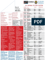 2012 National Band Championships Schedule