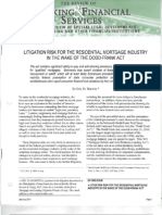 Dodd Frank Act Hurwitz Authored 1 2011