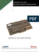 Manual Recarga Toner Samsung Ml 2250 Reman Eng