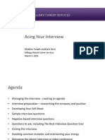 Acing Your Interview Webinar