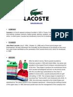 Lacoste Company Profile