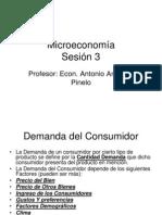 Microeconomía Sesión 3